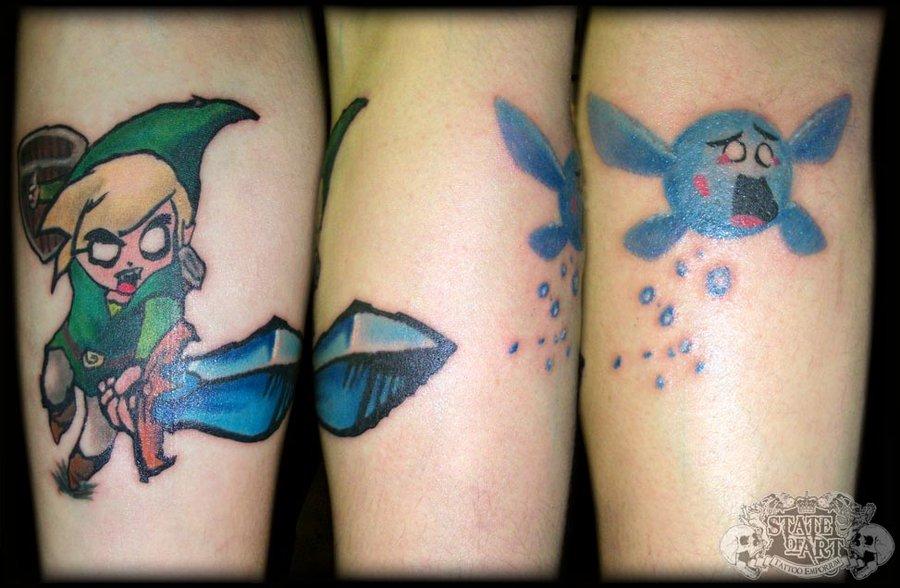 那些可爱又可怕的游戏纹身系列