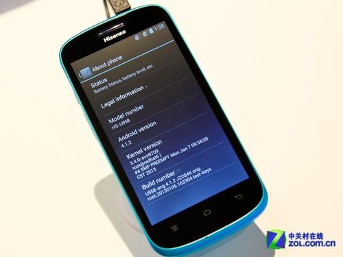 海信四款android智能手机同台亮相ces