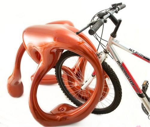 """3d打印出自行车""""停车架"""""""