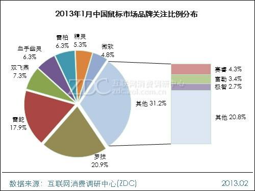 2013年1月中国鼠标市场分析报告