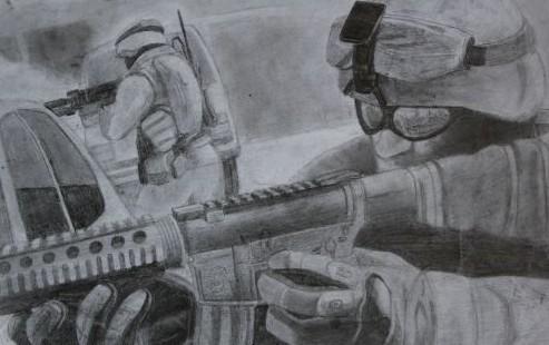 玩家手繪《使命召喚》鉛筆畫-第9頁-游戲頻道