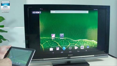 通过Miracast将平板界面镜像到电视端-畅享大屏 七彩虹Miracast功能试