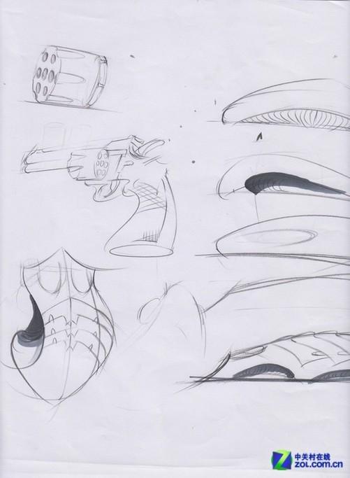 鼠标产品手绘线稿