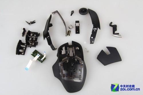 g602无线游戏鼠标滚轮依旧采用罗技惯用的光栅式结构