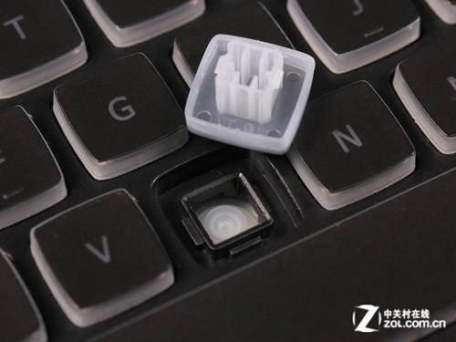 v-oxm8背光游戏键盘采用火山口结构设计,键帽表面