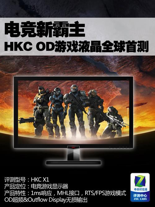 999元亲民 HKC 24英寸OD游戏液晶首测