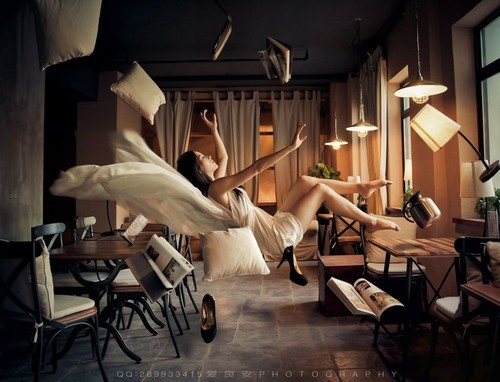 超现实之梦 500张素材合成3张悬浮照