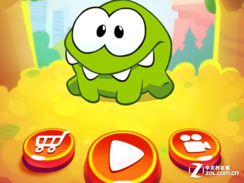 "app今日免费:呆萌吃货nom又来""割绳子2"""