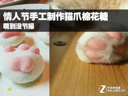 自制猫爪棉花糖,甜点可以恰到好处的凸显出爱情的甜蜜,同时,萌的可爱
