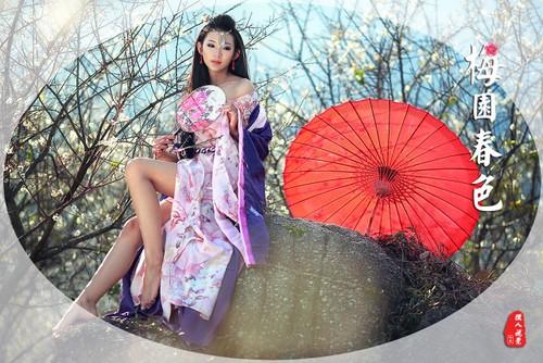 古琴纸伞玩穿越 古典美女的秀出微性感 原创