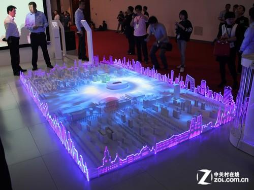 infoComm2014:爱普生炫酷建筑投影秀
