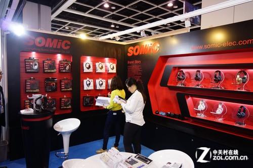 2014香港春季电子展 硕美科M4耳机展示