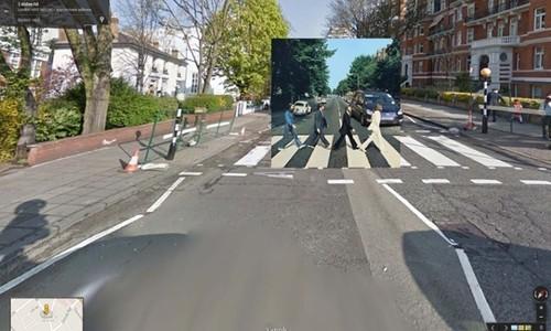 用google街景重现那些经典的专辑封面