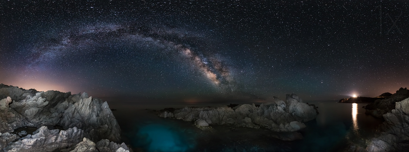 视野宽广夜空璀璨 全景星空照片欣赏