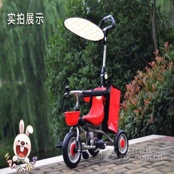 日本ides 儿童折叠三轮车童车自行车手推车脚踏车童车三轮车免安装 可