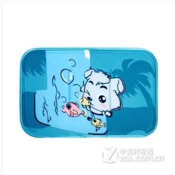 防水婴儿凉席婴儿床凉席儿童宝宝凉席夏季冰垫凉头枕 喜羊羊-小灰灰