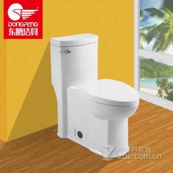 节水坐便器小户型连体抽水马桶缓冲马桶盖坐厕w1171