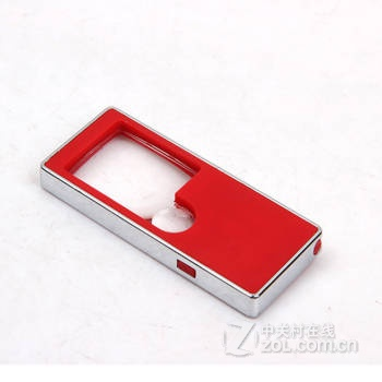 迈搏阅读放大镜3倍10倍带灯带紫外线验钞带手电圆珠笔多功能便携式