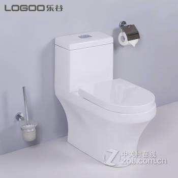 【乐谷卫浴节水型马桶lg-e80305喷射虹吸式座便器