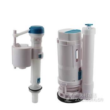 欧吉美 通用型连体马桶水配 老式分体马桶配件 进水阀 排水阀 按键图片