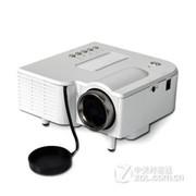 优丽可(UNIC)UC28家用LED投影仪 迷你便携微型投影仪可U盘电脑手机投影 白色 套餐五