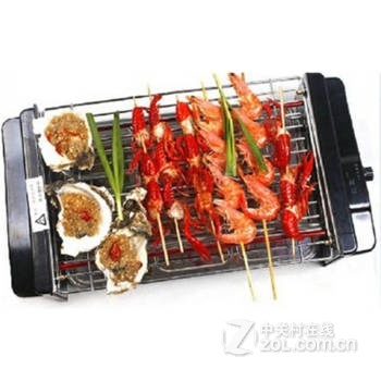 韩式家用电烤炉 无烟烧烤炉 不锈钢电热烧烤架 电烤肉炉