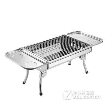 家用碳烧烤架户外便携不锈钢烧烤炉子加厚折叠野外木炭烤箱 套餐五