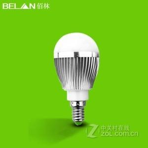 BELAN E14螺口3瓦银色 白光