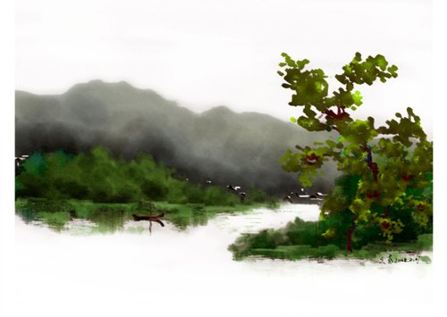 妙用photoshop制作水彩画的简单方法 (5/5)