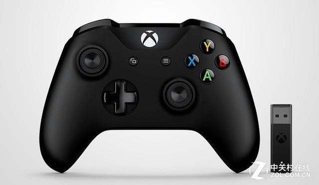 微软 (Microsoft) Xbox无线控制器/手柄 黑色+Xbox 无线适配器