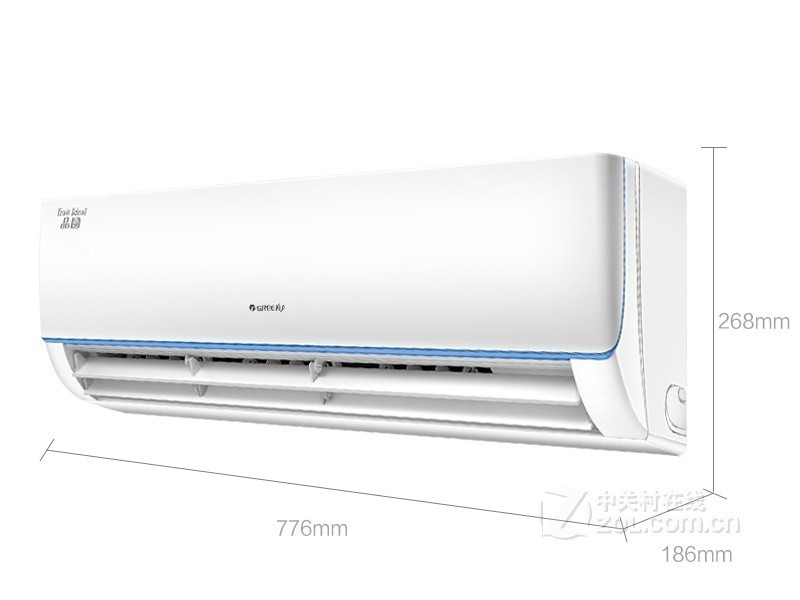 格力(GREE)品圆 小1匹 定速 冷暖 分体式 智能睡眠 壁挂式卧室空调挂机KFR-23GW/(23592)NhDa-3