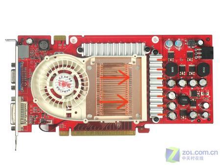 诱惑 七彩虹/七彩虹天行6800GS CH版512MB散热器(点击放大)