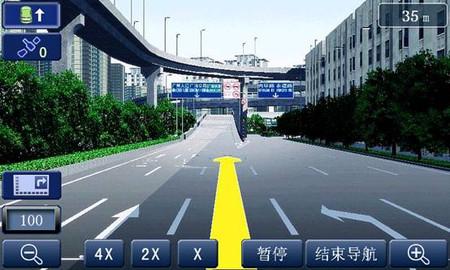 道道通h3.0版高清3d实景导航地图界面
