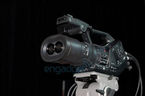 原来是圆眼睛 索尼3D摄影机原型曝光