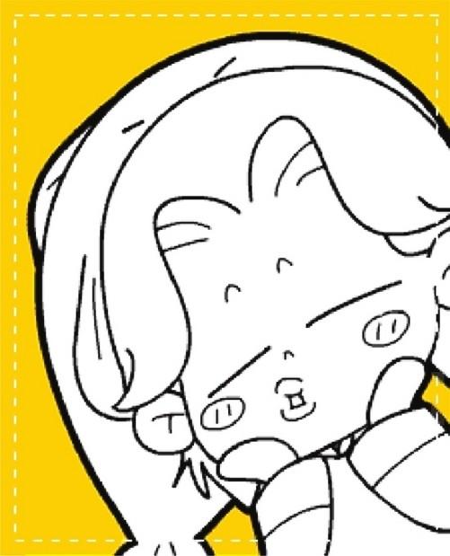 动漫 简笔画 卡通 漫画 手绘 头像 线稿 501_619 竖版 竖屏
