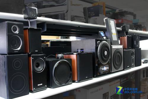 漫步者S2.1标准版、惠威M50W、罗技Z旋风、创新T3、金河田G010、索威HD830T