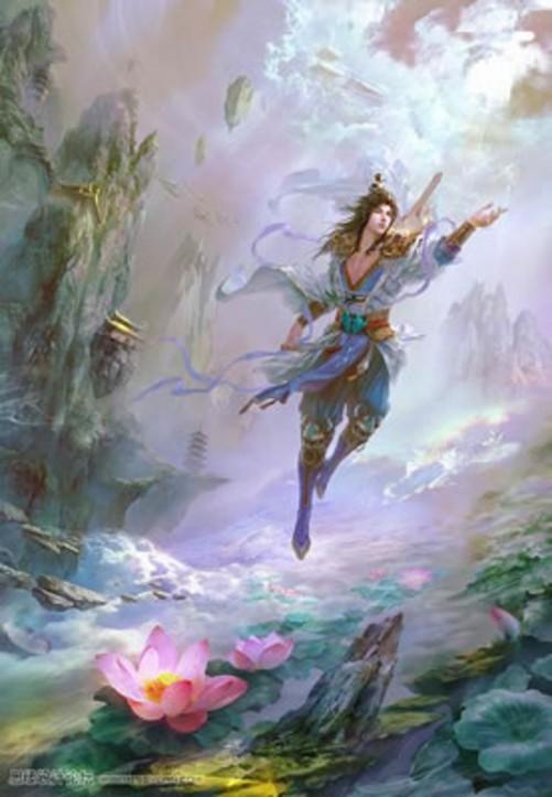 ps鼠标绘图教程:仙幻修真的仙女插画