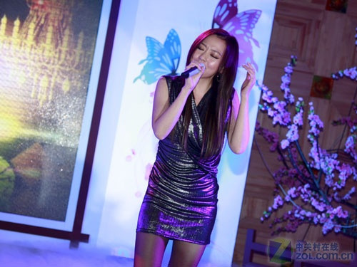 张靓颖现场献唱-张靓颖 李健助力音乐之旅 步步高i606发布图片