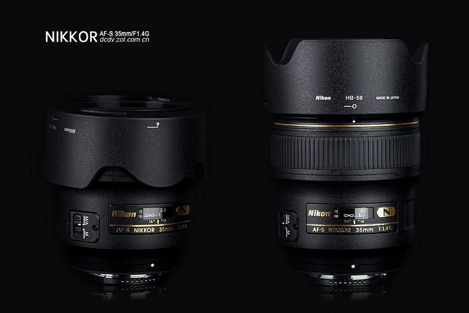 AF-S 尼克尔 35mm f/1.4G镜头外观细节