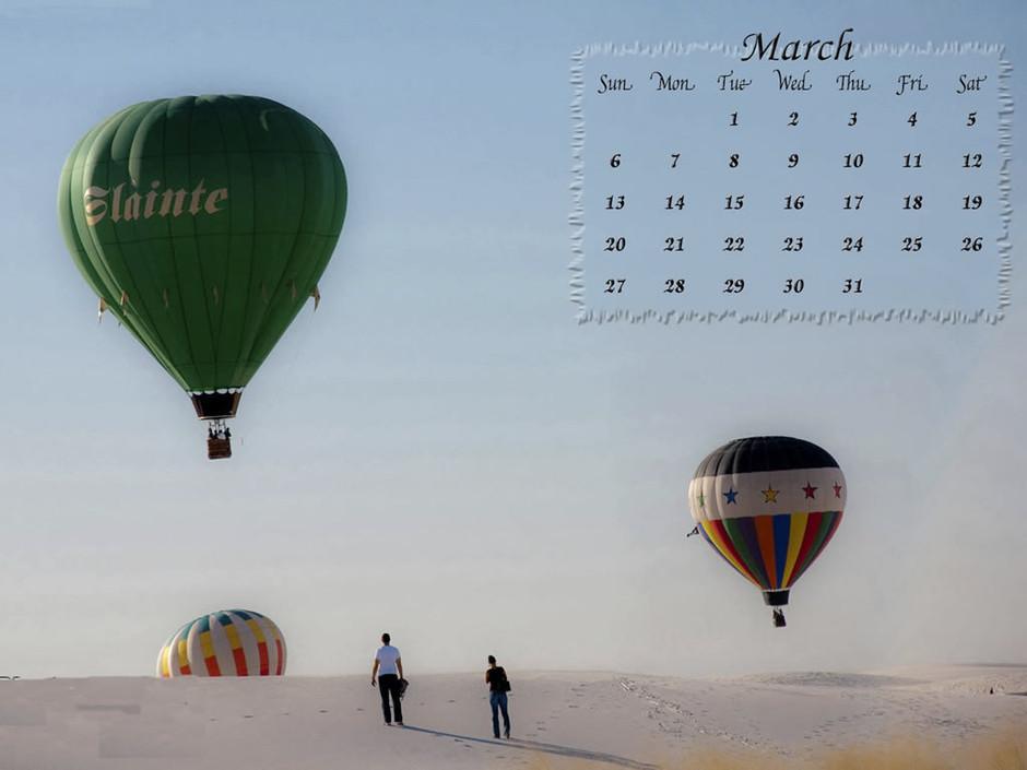 ipad2專用壁紙:2011年3月月歷壁紙下載