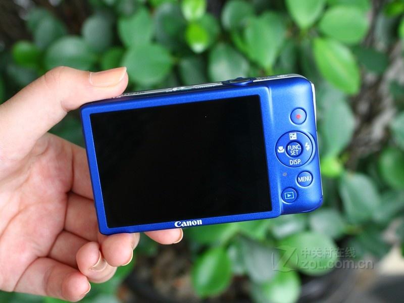 佳能 ixus115蓝色 背面图   佳能ixus 115 hs拥有全金属机高清图片