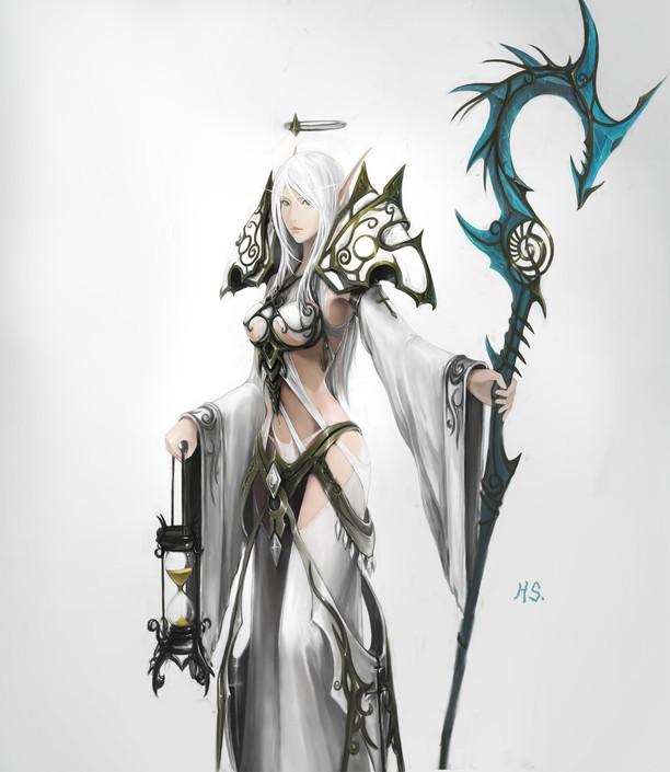 《魔兽世界》玩家h.s手绘极品职业套装