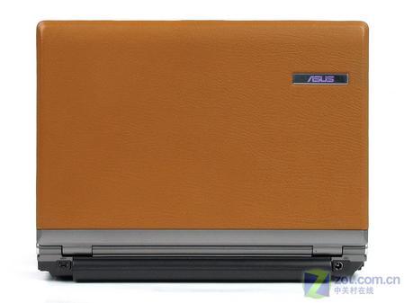 我们收到的这款华硕皮革版s6f顶盖颜色为典雅棕色