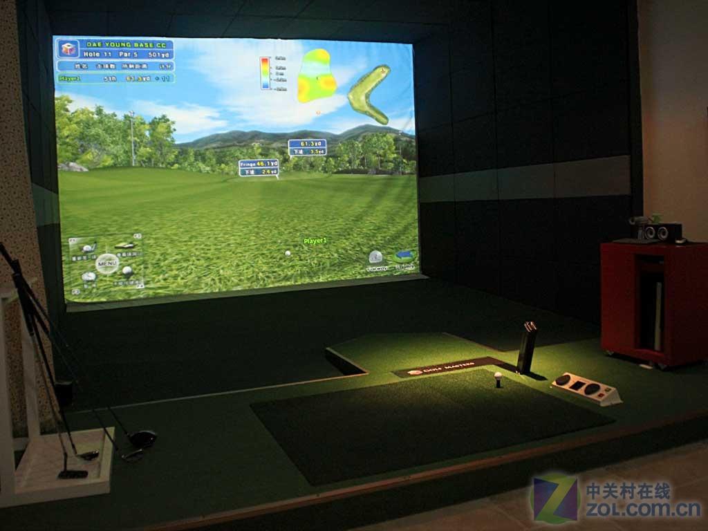 室內高爾夫 用3d投影實現立體健身影院
