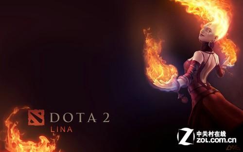 DotA2火女lina精美壁纸欣赏与下载