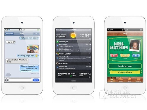 白色款苹果iPod touch 4降价售1438元