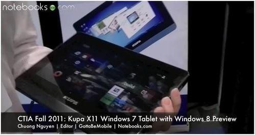 美国CTIA KUPA展示Windows8平板电脑