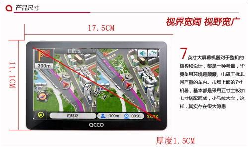 499元7寸国际品牌 ACCO艾酷A780冬季出击