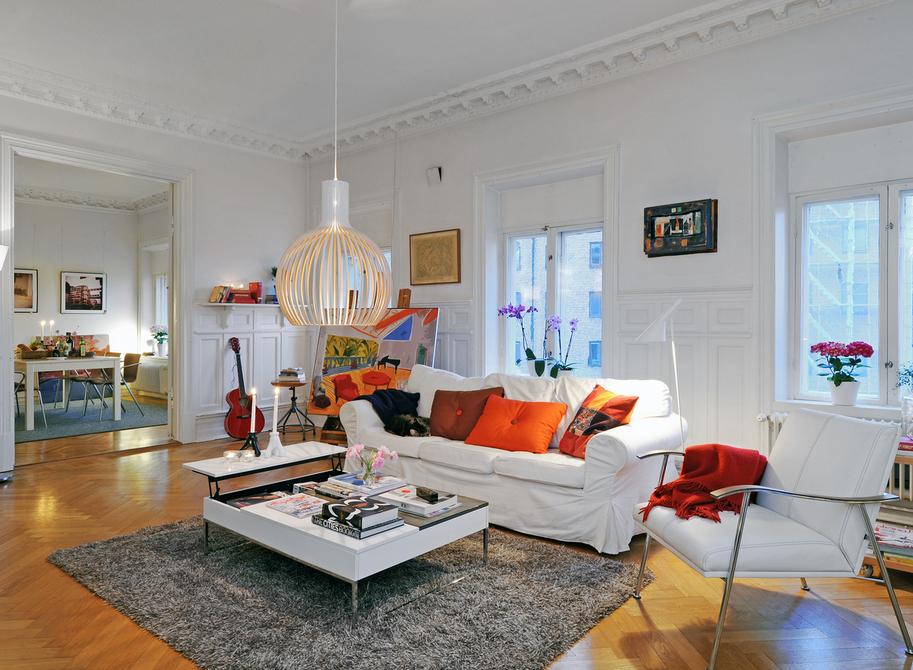 简单中透着奢华 北欧风格的客厅设计