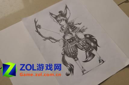 斗战神玉狐第二层_一杆神奇的画笔玩家手绘临摹斗战神玉狐
